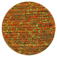 "Loloi Aria Rug  HAR14 Orange / Lime - 3'-0"" x 3'-0"" Round"