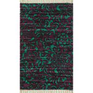 "Loloi Aria Rug  HAR14 Purple / Turquoise - 1'-8"" X 3'"