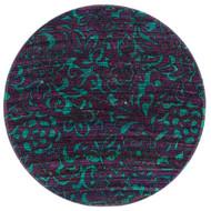 "Loloi Aria Rug  HAR14 Purple / Turquoise - 3'-0"" x 3'-0"" Round"