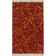 "Loloi Aria Rug  HAR14 Red / Orange - 1'-8"" X 3'"