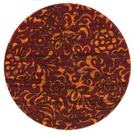 "Loloi Aria Rug  HAR14 Red / Orange - 3'-0"" x 3'-0"" Round"