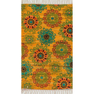 "Loloi Aria Rug  HAR15 Yellow / Orange - 3'-0"" x 3'-0"" Round"