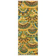 "Loloi Aria Rug  HAR17 Peacock / Yellow - 1'-9"" X 5'"