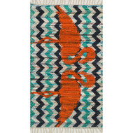 "Loloi Aria Rug  HAR20 Aqua / Orange - 2'-3"" x 3'-9"""