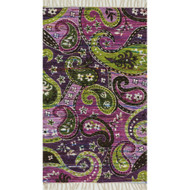 "Loloi Aria Rug  HAR23 Purple / Multi - 1'-8"" X 3'"