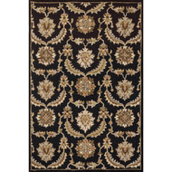 "Loloi Ashford Rug  HAS03 Black / Multi - 3'-6"" x 5'-6"""
