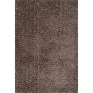 "Loloi Callie Shag Rug  CJ-01 Dark Brown / Multi - 7'-10"" X 7'-10"" Round"