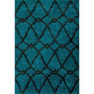 "Loloi Cosma Rug  HCO01 Blue / Charcoal - 7'-7"" X 10'-5"""
