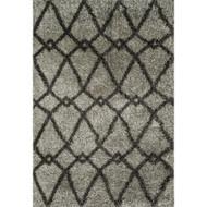 "Loloi Cosma Rug  HCO01 Grey / Charcoal - 5'-2"" X 7'-7"""