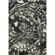 "Loloi Cosma Rug  HCO05 Charcoal / Ivory - 3'-9"" X 5'-6"""