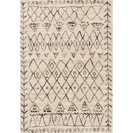 "Loloi Emory Rug  EB-09 Heather Gray / Black - 2'-5"" X 7'-7"""