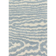 "Loloi Enchant Rug  EN-19 Ivory / Lt. Blue - 7'-7"" X 7'-7"" Square"