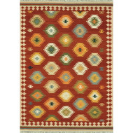 "Loloi Isara Rug  IA-03 Red / Multi - 3'-6"" x 5'-6"""