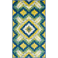 "Loloi Isabelle Rug  HIS03 Ivory / Green - 2'-2"" X 5'"
