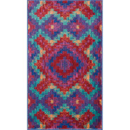 "Loloi Isabelle Rug  HIS03 Red / Teal - 3'-0"" x 3'-0"" Round"