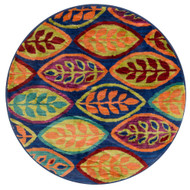 "Loloi Isabelle Rug  HIS04 Blue / Multi - 3'-0"" x 3'-0"" Round"