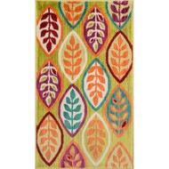 "Loloi Isabelle Rug  HIS04 Green / Multi - 2'-2"" X 5'"
