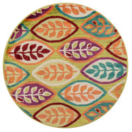 "Loloi Isabelle Rug  HIS04 Green / Multi - 3'-0"" x 3'-0"" Round"