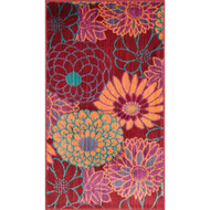 "Loloi Isabelle Rug  HIS05 Red / Multi - 2'-2"" X 5'"