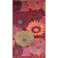 "Loloi Isabelle Rug  HIS05 Red / Multi - 3'-0"" x 3'-0"" Round"