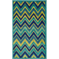 "Loloi Isabelle Rug  HIS07 Green / Multi - 2'-2"" X 3'-9"""