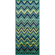 "Loloi Isabelle Rug  HIS07 Green / Multi - 2'-2"" X 5'"