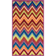 "Loloi Isabelle Rug  HIS07 Pink / Multi - 2'-2"" X 5'"