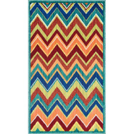 "Loloi Isabelle Rug  HIS07 Teal / Multi - 2'-2"" X 3'-9"""