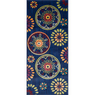 "Loloi Isabelle Rug  HIS08 Blue / Multi - 2'-2"" X 5'"