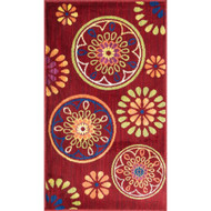 "Loloi Isabelle Rug  HIS08 Red / Multi - 3'-0"" x 3'-0"" Round"