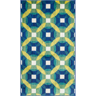 "Loloi Isabelle Rug  HIS09 Blue / Multi - 3'-0"" x 3'-0"" Round"