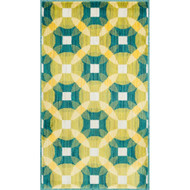 "Loloi Isabelle Rug  HIS09 Teal / Multi - 2'-2"" X 3'-9"""