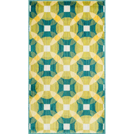 "Loloi Isabelle Rug  HIS09 Teal / Multi - 3'-0"" x 3'-0"" Round"