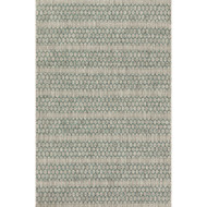 "Loloi Isle Rug  IE-01 Grey / Teal - 5'-3"" X 7'-7"""