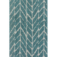 "Loloi Isle Rug  IE-02 Teal / Grey - 5'-3"" X 7'-7"""