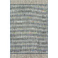 "Loloi Isle Rug  IE-03 Grey / Blue - 5'-3"" X 7'-7"""