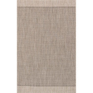 "Loloi Isle Rug  IE-03 Grey / Black - 5'-3"" X 7'-7"""