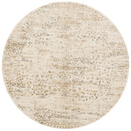 "Loloi Kingston Rug  KT-01 Cream / Multi - 9'-3"" X 9'-3"" Round"