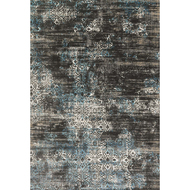 "Loloi Kingston Rug  KT-02 Charcoal / Blue - 7'-10"" x 10'-10"""