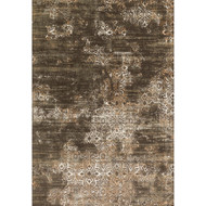 "Loloi Kingston Rug  KT-02 Dk Taupe / Multi - 7'-10"" X 7'-10"" Round"