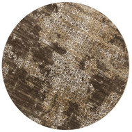 "Loloi Kingston Rug  KT-02 Dk Taupe / Multi - 9'-3"" X 9'-3"" Round"