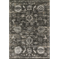 "Loloi Kingston Rug  KT-07 Charcoal / Silver - 7'-10"" X 7'-10"" Round"