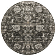"Loloi Kingston Rug  KT-07 Charcoal / Silver - 9'-3"" X 9'-3"" Round"