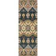 "Loloi Leyda Rug  LY-03 Black / Lt. Gold - 2'-6"" X 7'-6"""