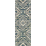 "Loloi Leyda Rug  LY-07 Grey / Denim - 2'-6"" X 7'-6"""