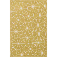 "Loloi Tilley Rug  HTI01 Green / Ivory - 2'-5"" X 3'-9"" HEARTH"