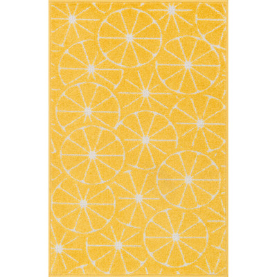 """Loloi Tilley Rug  HTI01 Yellow / Ivory - 2'-5"""" X 3'-9"""" HEARTH"""