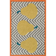 "Loloi Tilley Rug  HTI02 Grey / Green - 2'-5"" X 3'-9"""