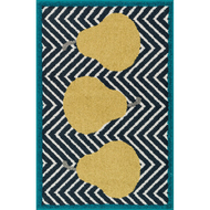 "Loloi Tilley Rug  HTI02 Navy / Green - 2'-5"" X 3'-9"" HEARTH"