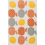 "Loloi Tilley Rug  HTI03 Orange / Multi - 2'-5"" X 3'-9"" HEARTH"